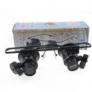 Ochelari lupa si magnificare 20X cu Leduri model 9892A-II