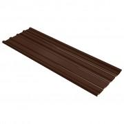 vidaXL Покривни панели, 12 бр, поцинкована стомана, кафяви