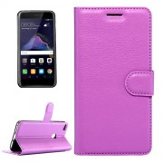 Huawei P8 Lite (2017) & P9 Lite (2017) & Honor 8 Lite Litchi Texture Horizontal Flip Leather Case with Magnetic Buckle & Holder & Card Slots & Wallet (Purple)