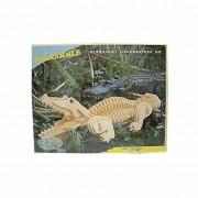 Merkloos Houten bouwpakket krokodil - 3D puzzels