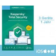 Kaspersky Lab Kaspersky Total Security 2019/2020 - Multi-Device, 3 Geräte - 1 Jahr, ESD, Download