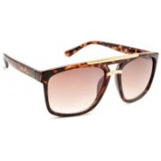 Stacle Rectangular Sunglasses(Brown)