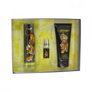 Christian Audigier Ed Hardy Eau De Toilette Spray + Shower Gel + Mini EDT Spray Gift Set Men's Fragrance 464930