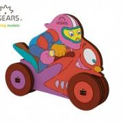 Motociclist - Puzzle 3D de colorat pentru copii