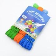 Magic Balloons, Vatten ballonger, självstängande, 3-pak blå / grøn / orange