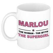 Bellatio Decorations Marlou The woman, The myth the supergirl bedankt cadeau mok/beker 300 ml keramiek