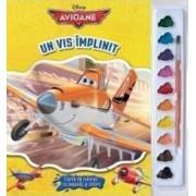Un vis implinit - Carte de colorat cu pensula si culori