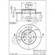 BREMBO - Disco freno (Set per pacco)