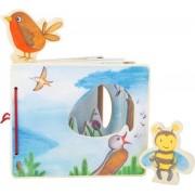 """Houten baby boekjes / Plaatjes boek - """"het landschap vanuit de lucht"""" - interactief - FSC® - Baby speelgoed vanaf 1 jaar"""
