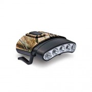 GSM Outdoors Cyclops CYC-HCDT-WGRT Tilt White/Green LED Hat Clip Light, Camouflage