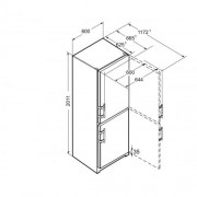 GARANTIE 4 ANI Combina frigorifica Liebherr, congelator NoFrost, clasa A++, alb CN 3915