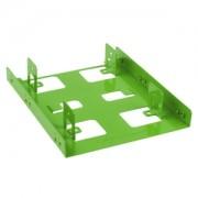Adaptor Sharkoon de la 3.5 inch la 2x 2.5 inch HDD/SSD, culoare verde