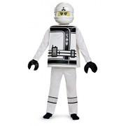 Zane LEGO Ninjago Movie Deluxe Costume, White, Large (10-12)