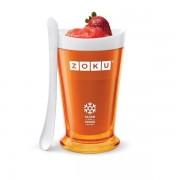 Pahar portocaliu pentru slush sau shake Zoku
