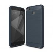 iPaky Slim Carbon rugalmas telefon tok TPU tok telefon tok hátlap Xiaomi redmi 4X kék