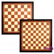 Abbey Game Igraća ploča šah + dama uokvirena smeđa