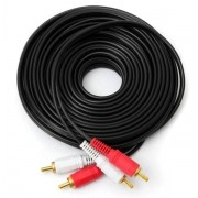 10 Meter 2 RCA to 2 RCA Cable for Audio (Red/White Connectors)