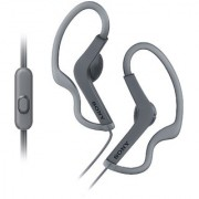 Sony MDR-AS210AP Splash-Proof Open-Ear Active Sports Headphones with Mic (Black)