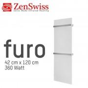 ZenSwiss furo (Farbe: Matt Weiss, Format: 42 x 120 cm)