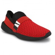 Shoe Rider Men's Red Mesh Casual Shoes