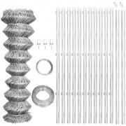 vidaXL Gard din oțel galvanizat cu stâlpi 25 x 0,8 m