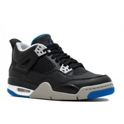 NIKE NIKE Jordan Big Kids Air Jordan IV Retro GS black soar-matte silver-white Size 5. 0 US