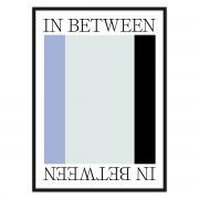 artvoll - In Between 2 Poster mit Rahmen, schwarz, 30 x 40 cm