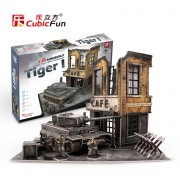 Puzzle 3D - Tancuri germane - German Tiger I Mid Production