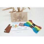 Goblen PASARELE kit de cusut pe placa din lemn obechi