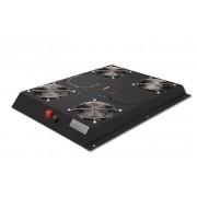 Kit 4 ventole con termostato, 12.8 metri cubi circolazione d'aria colore nero linea server (dn-19 fan-4-1000sw)