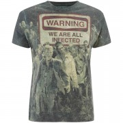 Geek Clothing The Walking Dead Warning Zombies Heren T-Shirt - Wit - XL - Zwart