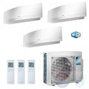 Daikin Trio Split 2.0+2.5+3.5 +5.2 kW Emura FTXJ-MW Wit Air Conditioner WiFi R-32 J20MW +J25MW +J35MW +3MXM52M A+++/A++ 7+9+12