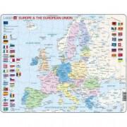 Puzzle Harta Politica a Europei EN 70 piese Larsen LRK63-GB B39016690