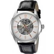 Lucien Piccard Silver19197 Lucien Piccard Men's LP-10660A-02S-RA Loft Stainless Steel Automatic Watch with Black Leather Band Watch - For Men