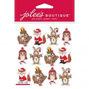 NEW! Jolee's Boutique Dimensional Stickers-Holiday Animals