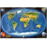 Harta panoramica a lumii cu relief oceanic/***