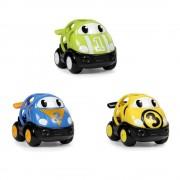 BRIGHT STARTS Hračka autíčko závodní Herbie, Tom a Mike Oball Go Grippers 18m+,3ks
