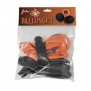 Hisab joker Halloween ballonger med tryck, svart/orange, 8-pack