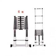 ZPWSNH Escalera Plegable fórmula de contracción Familiar Escalera Recta Escalera de ático de ingeniería portátil Taburete (Size : 6m)