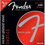 Fender 250R Electric Nickel Plated Steel Ball End 10-46 3 pack
