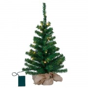 Small LED tree Toppy in a jute bag