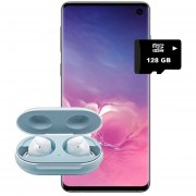 Samsung Galaxy S10 Verde + REGALO MicroSD 128GB+ Galaxy BUDS blanco