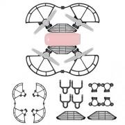 Neewer 3-en-1 Kit de Accesorios de Protección para DJI Spark Drone, Incluye: Extensores de Engranaje de Aterrizaje con Hebillas, Protectores de Hélice, Protectores de Dedos (Negro)