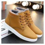 Botas zapatos para invierno fashion-cool Hombre-Amarillo