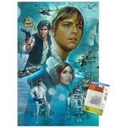 Trends International Póster mural de Star Wars: A New Hope con chinchetas