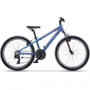 """Bicicleta CROSS Speedster 24"""" albastru/portocaliu 30 cm"""