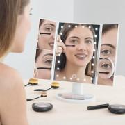 Oglinda Cosmetica Pentru Machiaj Make Up - Cu Led si Efect de Marire