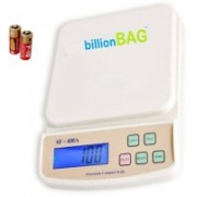 Billionbag Compact Scale With Backlight SF 400A 7 Kg With Battery Digital Multi-Purpose Kitchen Weighing Scale(White)
