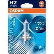 Bec auto cu halogen pentru far Osram H7 12V 55W PX26d Cool Blue Intense