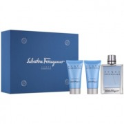 Salvatore Ferragamo Acqua Essenziale lote de regalo VI. eau de toilette 100 ml + gel de ducha 50 ml + bálsamo after shave 50 ml